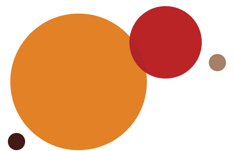Circles of various sizes and colors depicting the proportion of participants that identified as having a disability