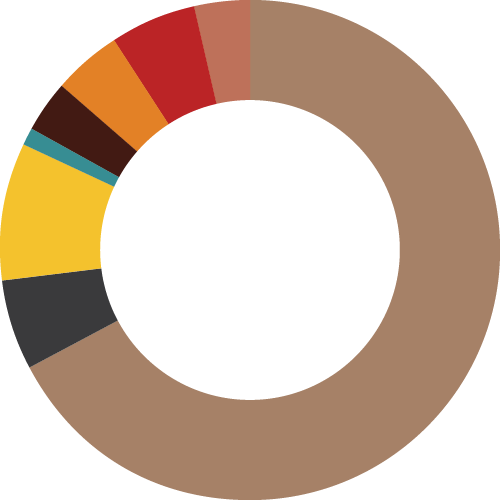 Pie-chart depicting percentages of sexualities of our participants